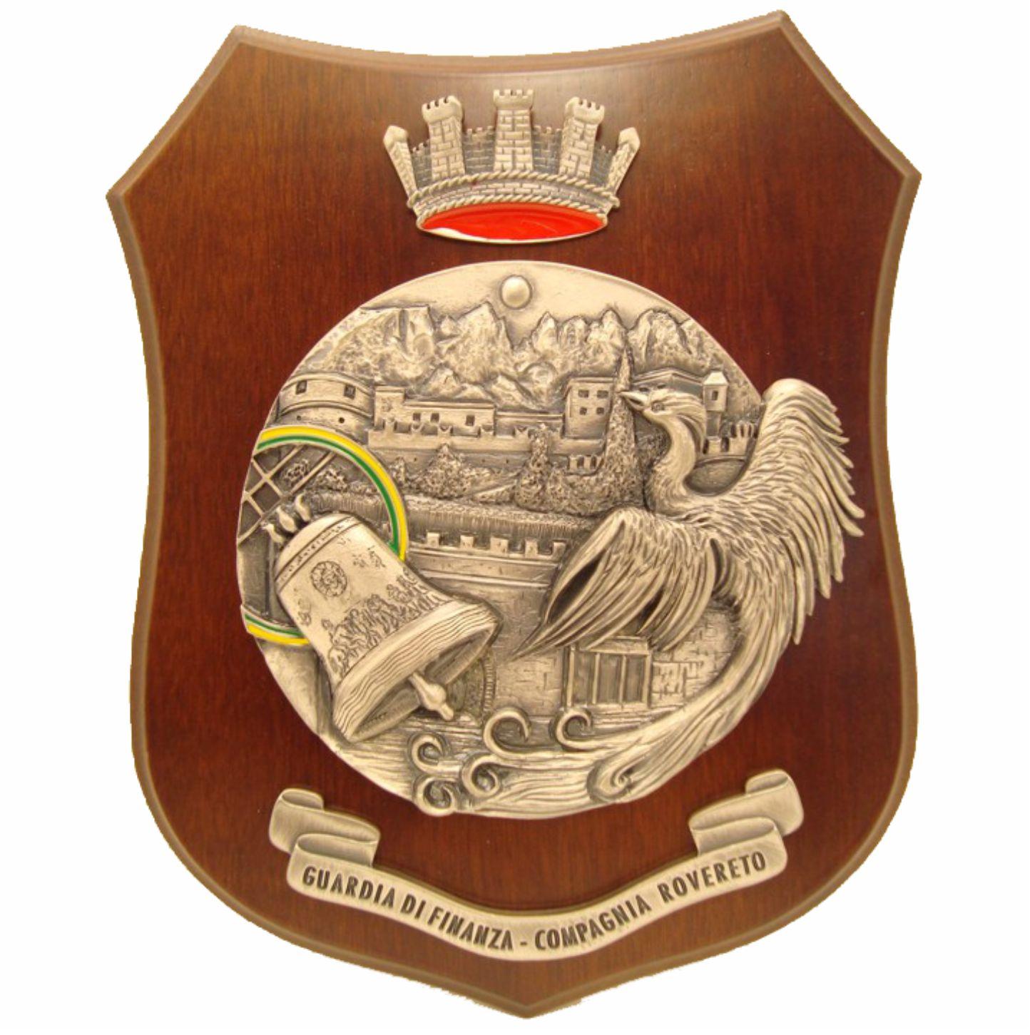 Crest in metallo argentato antico - GdF Rovereto