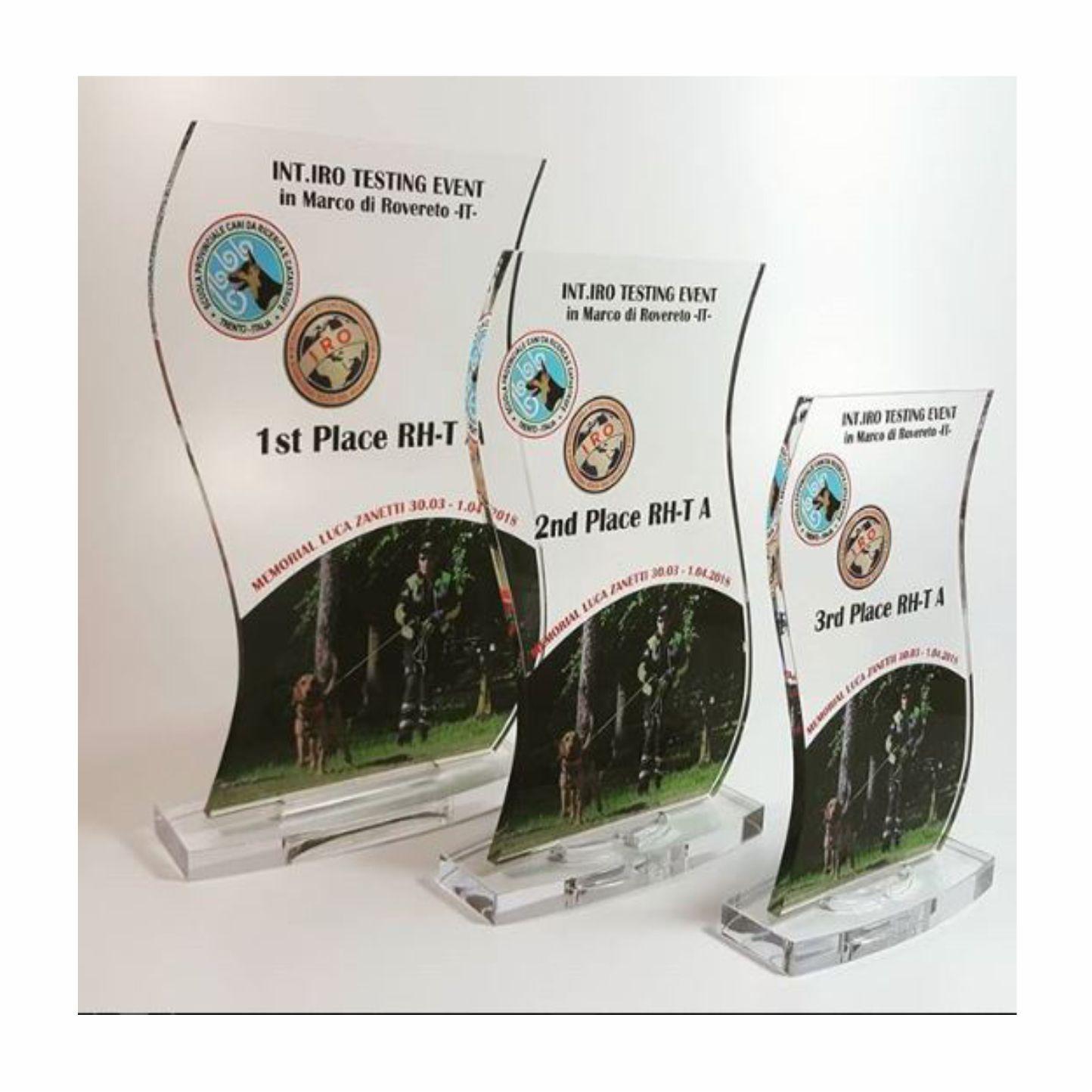 Targhe in plexiglas stampato