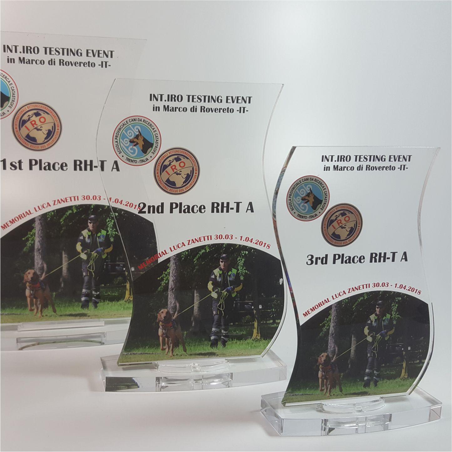 Trofei in plexiglass